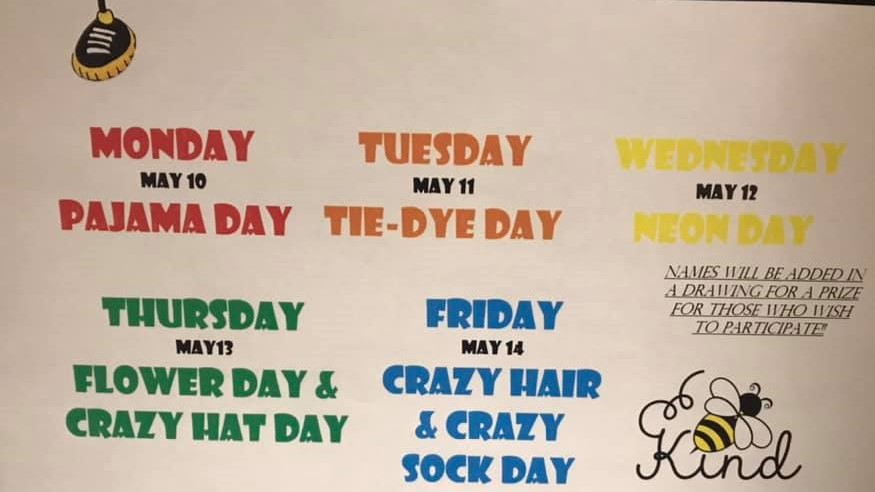 Activities Weekly Calendar